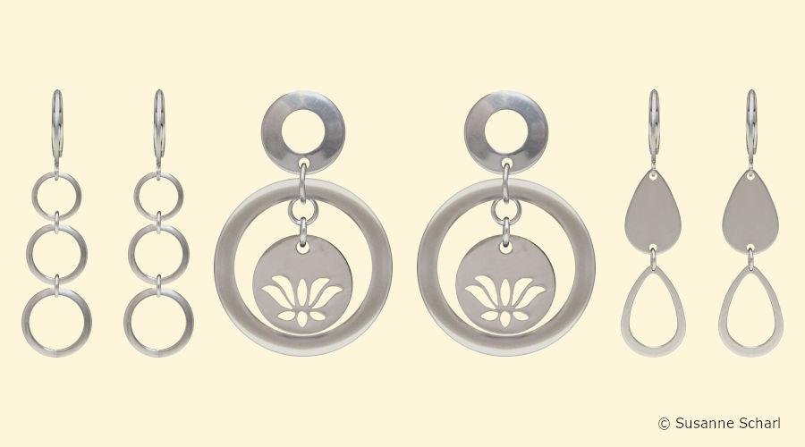 Neue Edelstahl Ohrringe für den Sommer 2020 im Ohrring Paradies