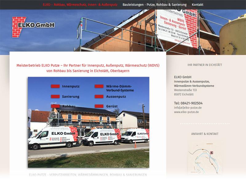 Webscreen www.elko-putze.de - COPYRIGHT 2020 by ELKO GmbH, Eichstätt, Bayern | Freie-Pressemitteilungen.de