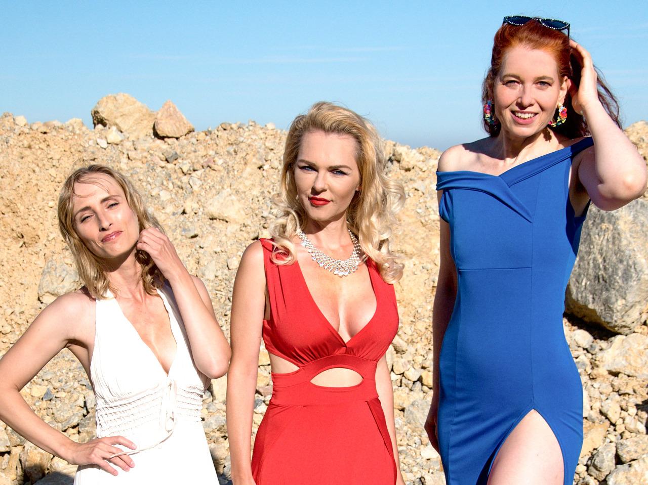 Die Models Veronika, Marina und Betty im Steinbruch | Freie-Pressemitteilungen.de