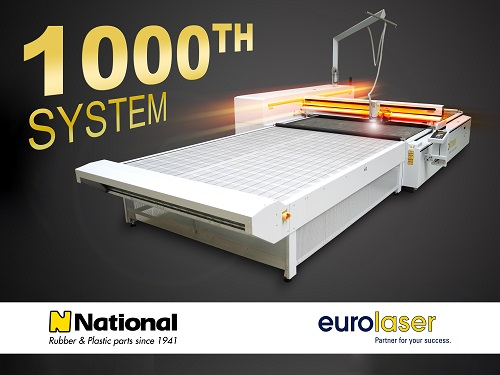 News - Central: Feierlaune bei eurolaser – 1.000tes verkauftes Großformat-Lasersystem