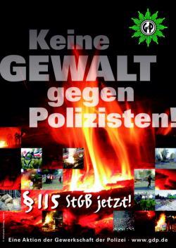 Ost Nachrichten & Osten News | Ost Nachrichten / Osten News - Foto: GdP-Plakat-1 Keine Gewalt gegen Polizisten.