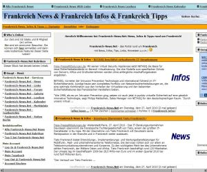 Alternative & Erneuerbare Energien News: Screenshot von Frankreich-News.Net