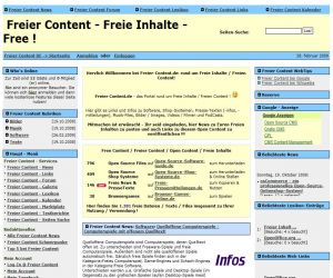 Freie Pressemitteilungen | Portal rund um das Thema Freier Content / Freie Inhalte mit News, Infos, Tips, Links u.v.m.!