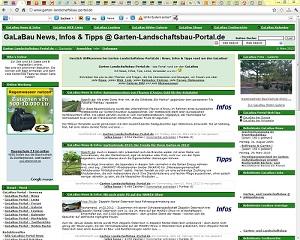 PHPNuke Service DE - rund um PHP & Nuke | Foto: Screenshot Garten-Landschaftsbau-Portal.de