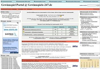 PHPNuke Service DE - rund um PHP & Nuke | Screenshot gewinnspiele-247.de