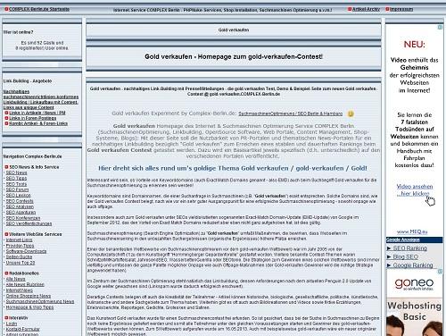 Ostsee-Infos-247.de- Ostsee Infos & Ostsee Tipps | Foto: Gold verkaufen Demo-Seite
