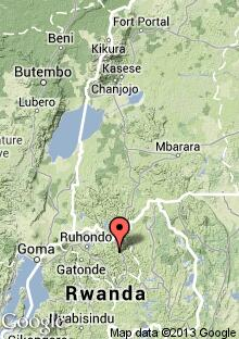 Lage Gründerzentrums Kabali in Ruanda