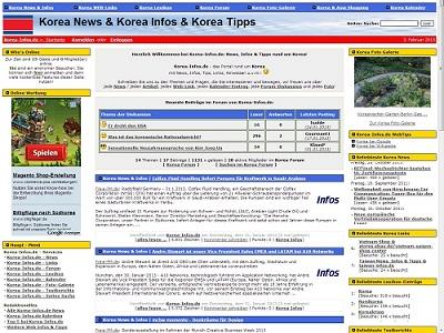 PHPNuke Service DE - rund um PHP & Nuke | Screenshot Korea-Infos.de