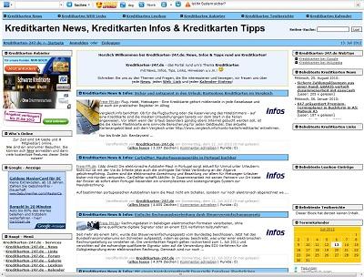 PHPNuke Service DE - rund um PHP & Nuke | Foto: Screenshot kreditkarten-247.de.
