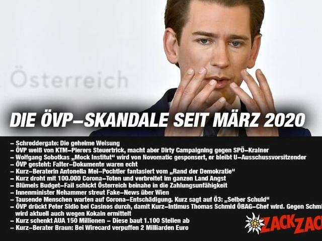 Freie Pressemitteilungen | ÖVP-Skandalliste  seit 2020