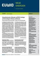 Schleswig-Holstein-Info.Net - Schleswig-Holstein Infos & Schleswig-Holstein Tipps   EUWID Neue Energien 5/2013 ist am 30. Januar 2013 erschienen