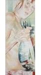 Italien-News.net - Italien Infos & Italien Tipps | Foto: Monika Thiele, Ein Versprechen, 2006, Garn auf Organza, 160 x 60 cm