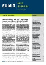 Schleswig-Holstein-Info.Net - Schleswig-Holstein Infos & Schleswig-Holstein Tipps | EUWID Neue Energien 11/2013 ist am 13. März erschienen