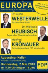 Bayern-24/7.de - Bayern Infos & Bayern Tipps | Foto: Plakat der FDP zur Europa-Veranstaltung