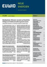 Schleswig-Holstein-Info.Net - Schleswig-Holstein Infos & Schleswig-Holstein Tipps | EUWID Neue Energien 31/2013 ist am 31. Juli erschienen.