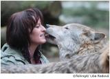 Tier Infos & Tier News @ Tier-News-247.de | Foto: Tanja Askani, Falknerin im Wildpark Lüneburger Heide, beschäftigt sich seit knapp 15 Jahren mit den Wölfen, hat das Wolfsgehege im Wildpark aufgebaut. 1998 zog sie ihren ersten verwaisten Polarwolfswelpen auf.