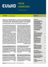 Niedersachsen-Infos.de - Niedersachsen Infos & Niedersachsen Tipps | EUWID Neue Energien – Energiewende kompakt