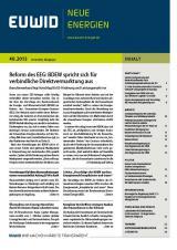 Potsdam-Info.Net - Potsdam Infos & Potsdam Tipps | EUWID Neue Energien 40/2013 ist am 2. Oktober erschienen.