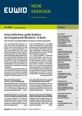 Landwirtschaft News & Agrarwirtschaft News @ Agrar-Center.de | EUWID Neue Energien 44/2013 beinhaltet unter anderem ein Interview mit Franz Untersteller