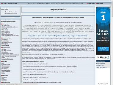 Sachsen-News-24/7.de - Sachsen Infos & Sachsen Tipps | MegaAbstauberSEO @  Complex Screenshot