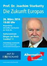 Rheinland-Pfalz-Info.Net - Rheinland-Pfalz Infos & Rheinland-Pfalz Tipps | Prof. Dr. Joachim Starbatty in Bingen am Rhein