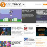 Browser Games News | Foto: Das neue Design von Spielesnacks.de.