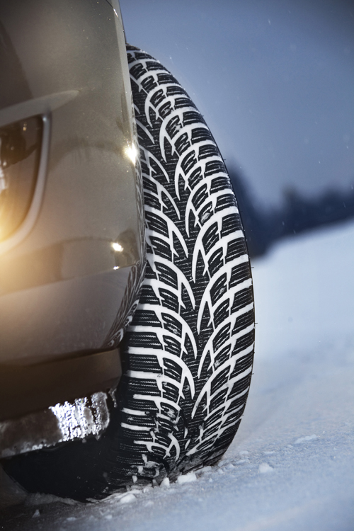 News - Central: Der umweltfreundliche Winterreifen Nokian WR D3 fährt sicher und wirtschaftlich mit festestem Griff auf Schnee     Foto: Nokian