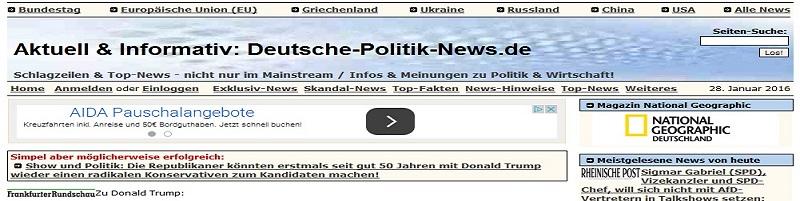 Deutsche-Politik-News.de | Schlagzeilen Blog deutsche-politik-news.de