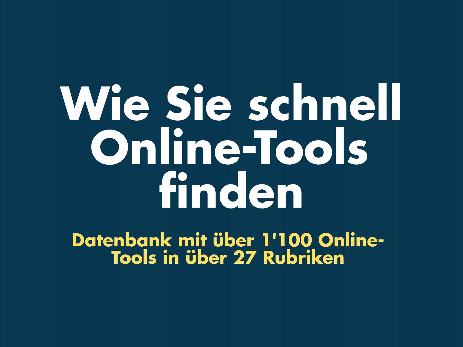 News - Central: Online-Tools Datenbank