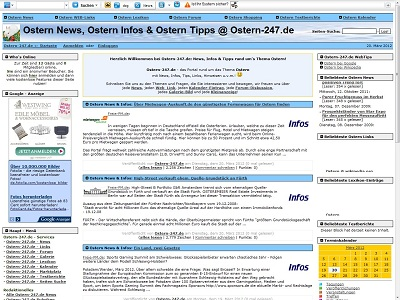 PHPNuke Service DE - rund um PHP & Nuke | Foto: Screenshot Ostern-247.de