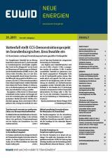 Baden-Württemberg-Infos.de - Baden-Württemberg Infos & Baden-Württemberg Tipps | EUWID Neue Energien 31/2011 ist am 14. Dezember erschienen und umfasst 107 Nachrichten auf 32. Seiten