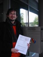 Baden-Württemberg-Infos.de - Baden-Württemberg Infos & Baden-Württemberg Tipps | Martin Rotzinger reicht den Wahlvorschlag ein.