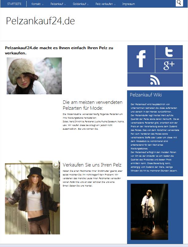 Pelzankauf24 Webseite | Freie-Pressemitteilungen.de