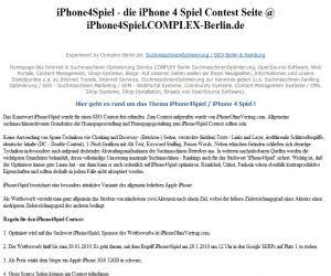 iphone4spiel seite Screenshot | Freie-Pressemitteilungen.de