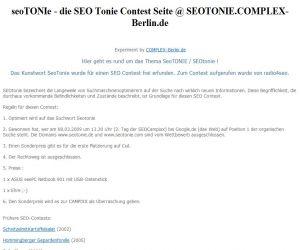 SEOtonie Beispiel-Seite des SEOtonie Wettbewerbs! | Freie-Pressemitteilungen.de