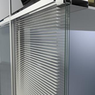Technik-247.de - Technik Infos & Technik Tipps | Der Schüco Sonnenschutz CAB, flächenbündig integrierbar in die Fassadensysteme FW 50+ und FW 60+.
