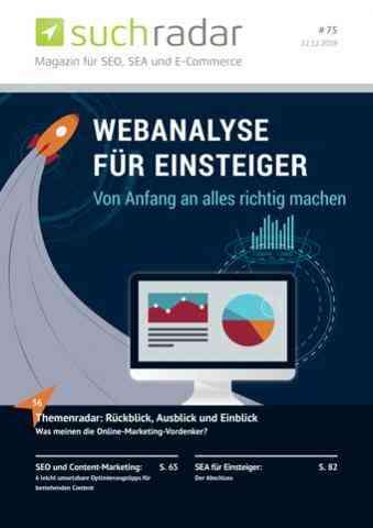 Suchmaschinenoptimierung & SEO - Artikel @ COMPLEX-Berlin.de   Ausgabe 75 (Dezember 2018) vom deutschsprachigen Suchmaschinen-Magazin Suchradar