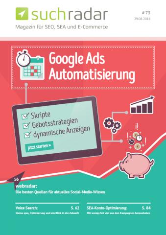 Suchmaschinenoptimierung & SEO - Artikel @ COMPLEX-Berlin.de | Foto: Cover von Ausgabe 67 des deutschsprachigen Suchmaschinen-Magazins Suchradar