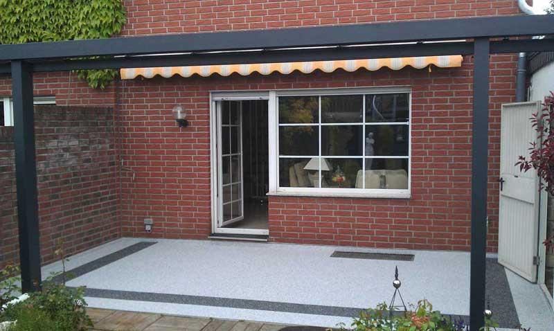 Haussanierung: | Terrassensanierung Terrassenrenovierung mit Steinteppich