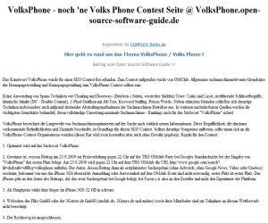 CMS & Blog Infos & CMS & Blog Tipps @ CMS & Blog-News-24/7.de | VolksPhone - Zwischenstand 1 !