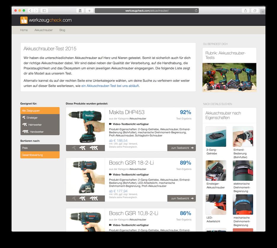 Amerika News & Amerika Infos & Amerika Tipps | Akkuschrauber-Test des Portals Werkzeugcheck.com