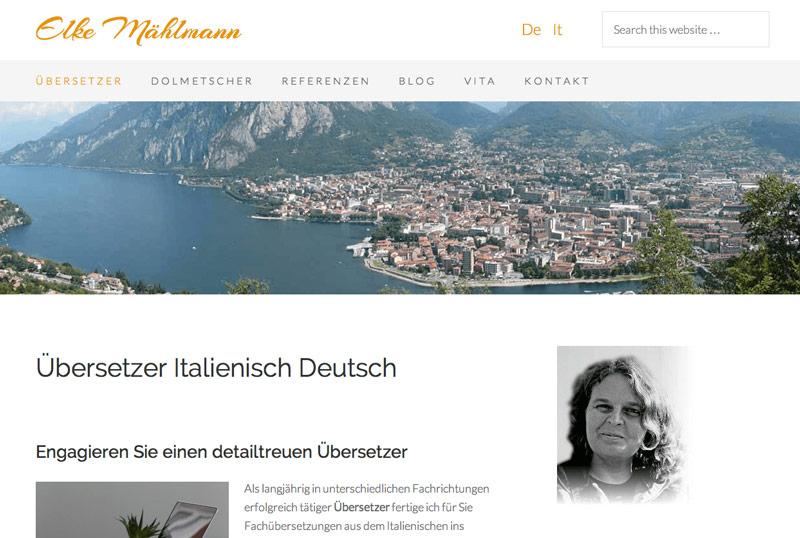 Italien-News.net - Italien Infos & Italien Tipps | Screenshot von www.übersetzer-für-italienisch.de